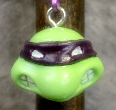 Purple Cartoon Turtle Key Chain