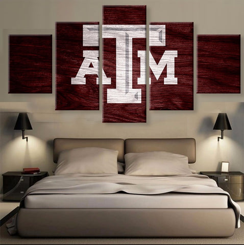TEXAS A&M Modern Home Wall Decor Painting Canvas Art Print
