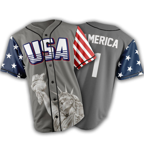 Limited Edition Grey America #1 Jersey