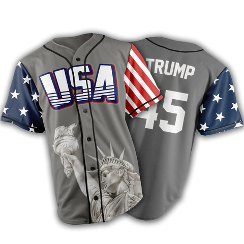 Limited Edition Grey Trump #45 Jersey