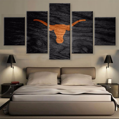 HD printed 5 pcs Canvas art Texas Longhorns Football painting on canvas Wall Art