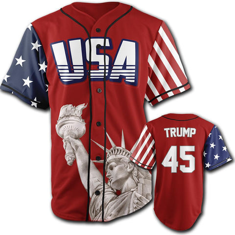Red Trump #45 Baseball Jersey