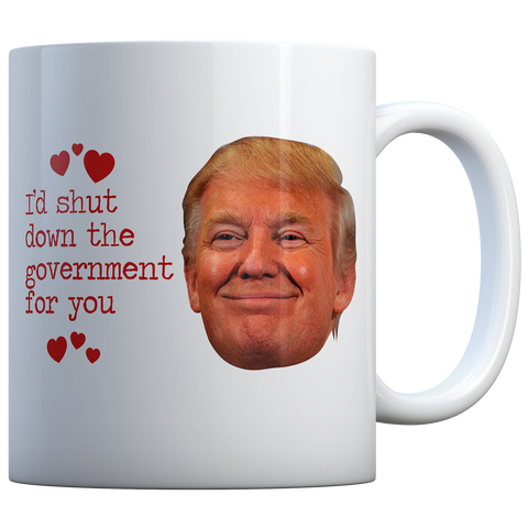 I'D SHUT THE GOVERNMENT FOR YOU SMILE - COFFEE MUG