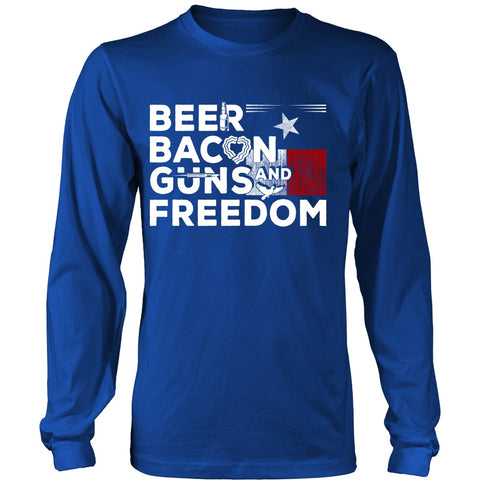 Beer bacon guns freedom