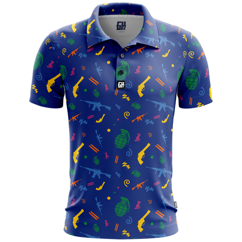 Retro Pew Pew Golf Polo