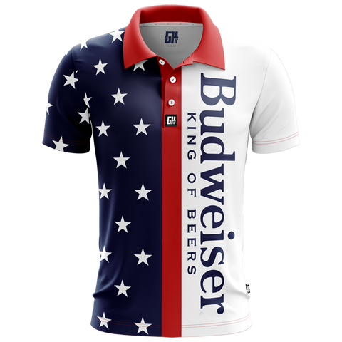 Retro Bud Golf Polo