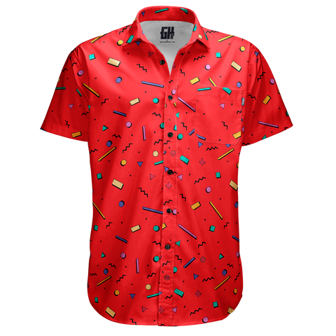 Bayside High Red Button Down