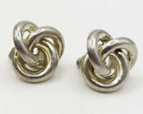 925 Sterling Silver - Vintage Knotted Stud Earrings - E1768