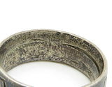 925 Sterling Silver - Vintage Engraved USA Half Dollar Band Ring Sz 9 - R6989