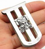 PERU 925 Sterling Silver - Vintage Open South American Goddess Clip  - T1216