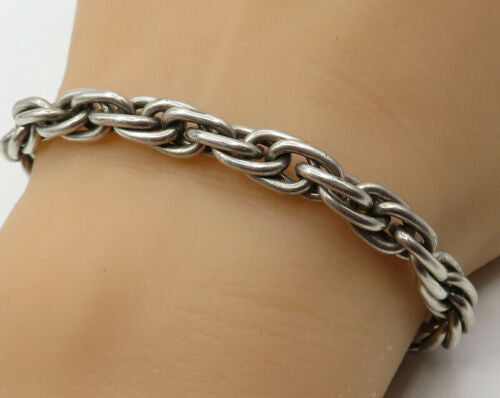 925 Sterling Silver - Strong Heavy Duty Chain Link Bracelet - B1915