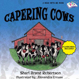 Image of Capering Cows children's book cover