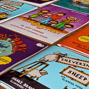 Image of children's books on table