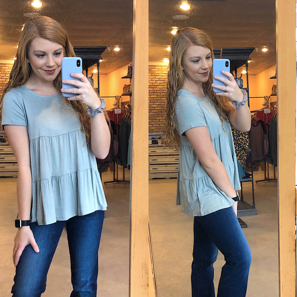 simple babydoll top