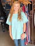 Seafoam Distressed Top