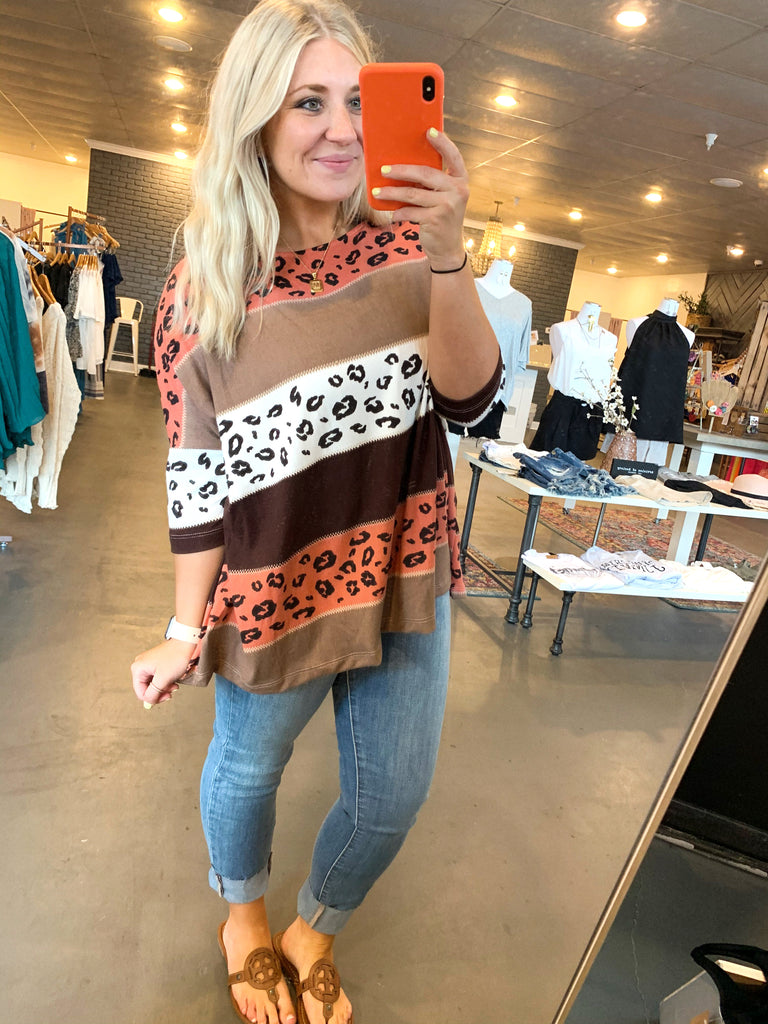 block leopard sweater
