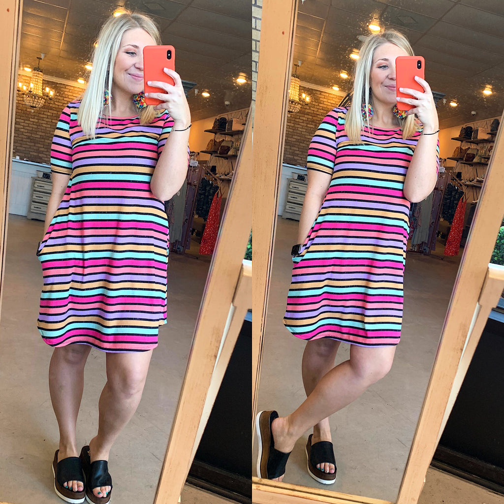 Striped Spring dress