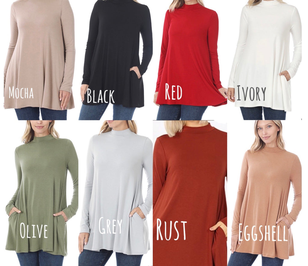 Katie Mock Neck Top