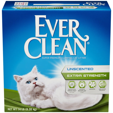 Ever Clean Extra Strength Unscented clumping litter 25lb box