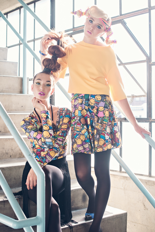 736dc7bd8 Invite everyone to a party with Hello Kitty and your favorite Simpsons  characters! Rock our Cropped Tee or our Circle Skirt separately or paired  together!