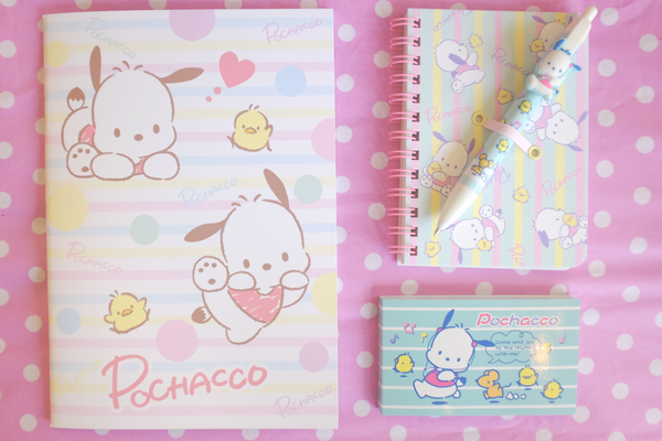 a4765d701 Keep all your important papers in order with this Pochacco File Folder Set!  This set comes with 2 files folders and the photo below shows the front and  back ...