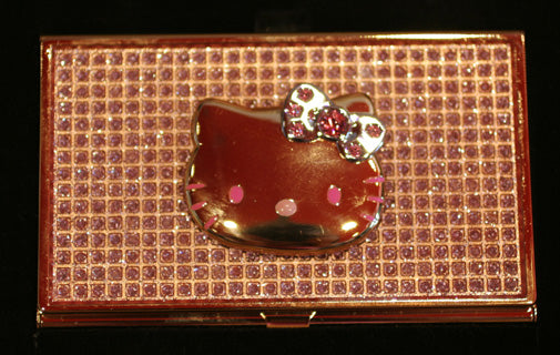 Hello kitty bling and hello kitty food charms japanla the business card holder is 35 and pill box not shown 30 reheart Images