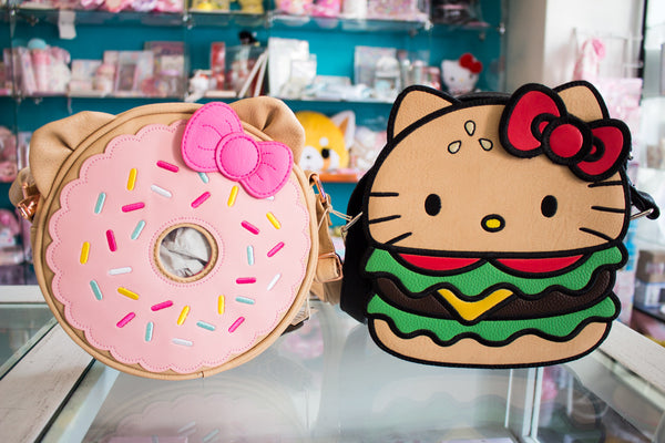 These New Sanrio Backpacks are great for traveling this summer! Choose your  favorite  Hello Kitty Denim w  Patches  55, Hello Kitty Burger  45, ... 0a8a4d3007