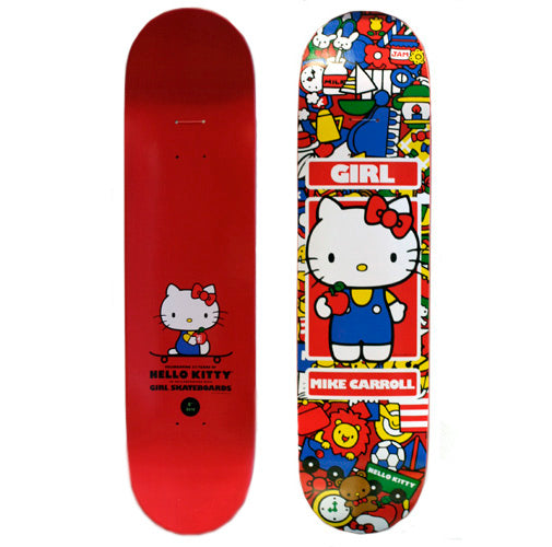 Hello Kitty x Girl Skateboards Decks, Wheels, Mens Tees