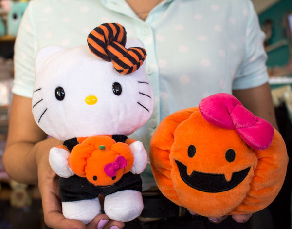 196166b20 The Hello Kitty Reversible Pumpkin Plush is magical! Flip Hello Kitty  inside out to turn her into a kawaii pumpkin, $28, (2-in-1!)