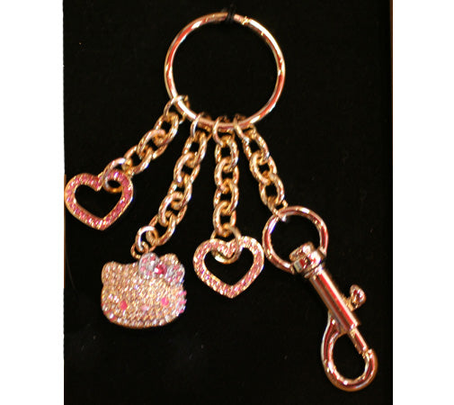 Hello kitty bling and hello kitty food charms japanla hello kitty bling gold colored metal with pink faux diamonds here is the mirror its 66 and the keychain is 25 the business card holder reheart Images