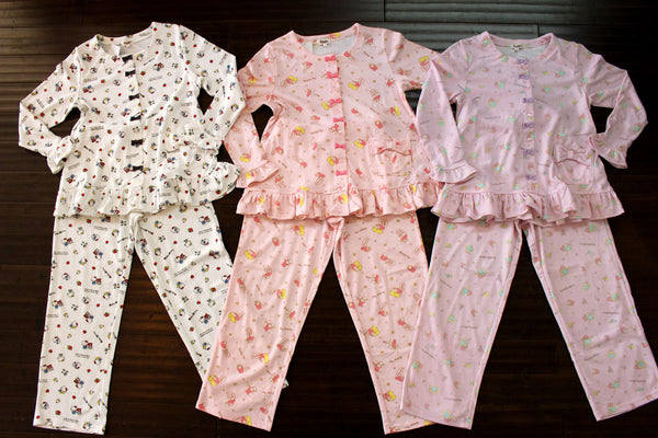 924cb13c7 Stay cozy and cute at night with these NEW Sanrio Ruffle Pajama Sets!  Available in Hello Kitty, My Melody & Little Twin Stars in Adult Size  Small, ...