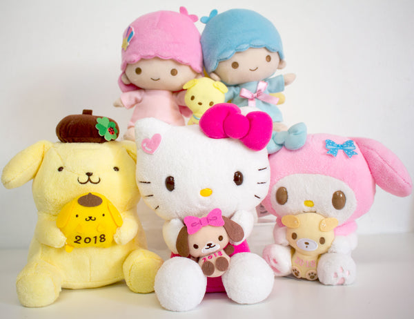 2e3336041 Available in Little Twin Stars, Pom Pom Purin, Hello Kitty, & My Melody $21  each. Each character is holding a cute dog to celebrate the Year of the Dog  too!