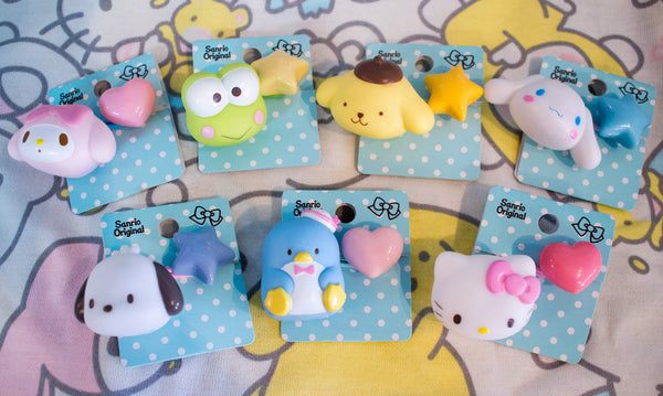 Look at all the Sanrio characters you can put in your hair! Add one of thse  Sanrio Original Character Hair Ties to your ponytail or bun as a kawaii ... a59c03be245