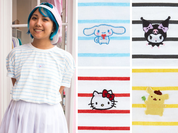 cb8195dcd These Sanrio Active Tees have cute art of our favorite Sanrio characters  doing their favorite outdoor activities. These Tees are a Japan One Size  and fit ...