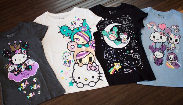 4fa1e2e39 Check out these super cute tokidoki x Hello Kitty tees! Stormy Sweets,  Triple Kawaii, Candy Clouds, & Cosmic Cuties, $26 each.