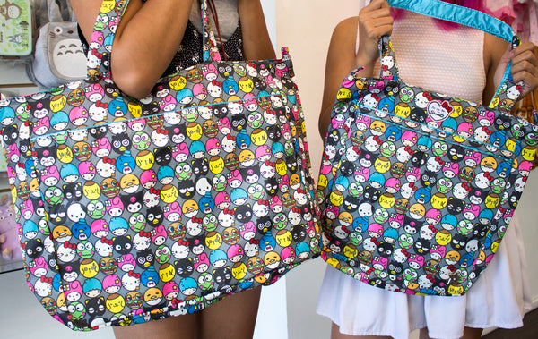 131e71bdd3c4 Be Large Tote Bag   Be Light Tote Bag We love that Sanrio put in some rare  characters like Dokidoki Yummy Chums   Pochacco! Look at their cute  expressions!