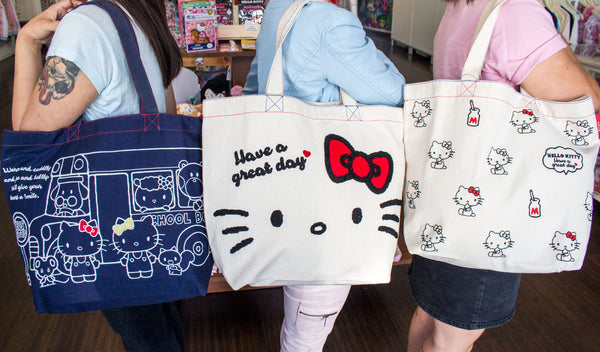 923579fdad These Double Sided Hello Kitty Mini Totes look great from all angles
