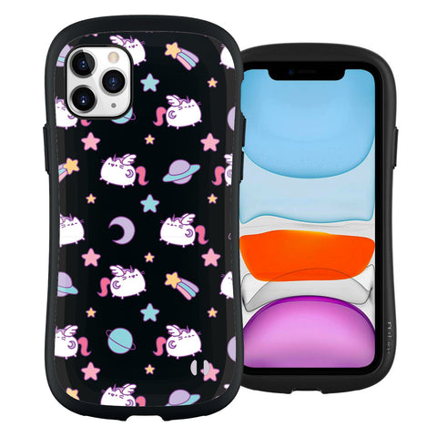 Pusheenicorn Black Pattern iPhone 11 Pro Case