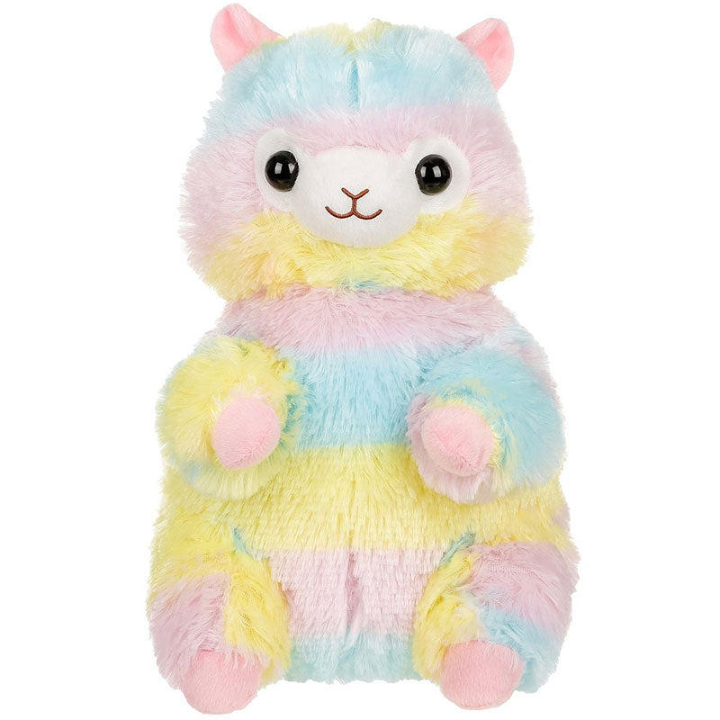 Rainbow Alpaca Plush Backpack