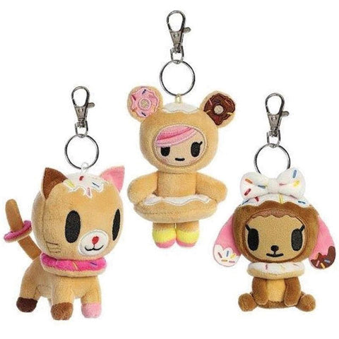 Donutella & Friends Plush Keychains