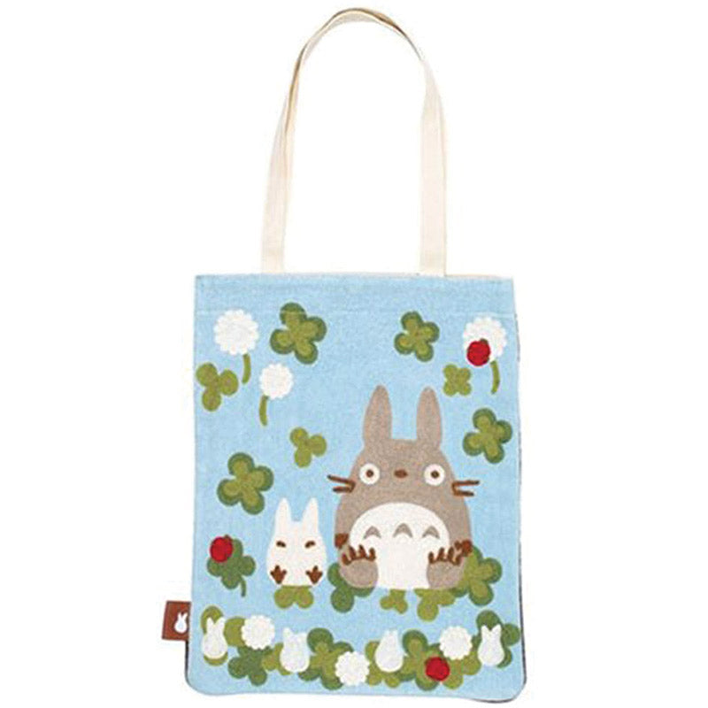 Totoro Among the Clovers Tote Bag