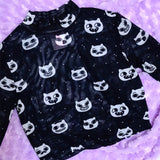 Silly Kawaii Kitty Faces Crop Top