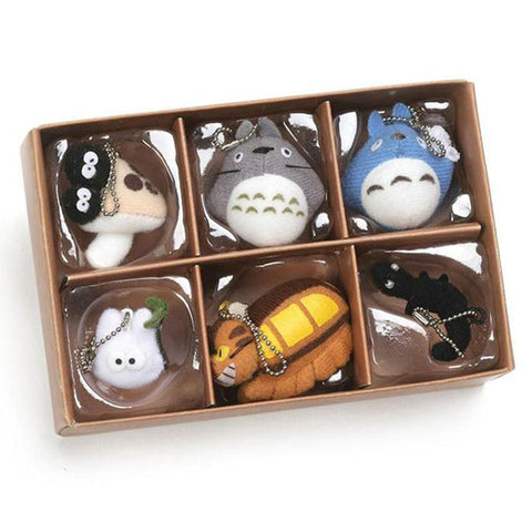 Totoro Collector Plush Keychain Set