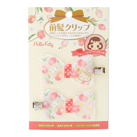 Hello Kitty Bow Bangs Clip Set