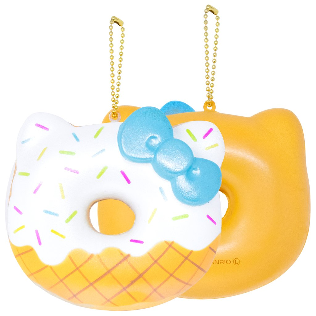 Hello Kitty Ice Cream Donut Squishy
