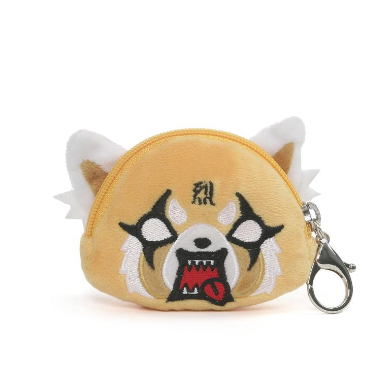 Aggretsuko Plush Coin Keychain