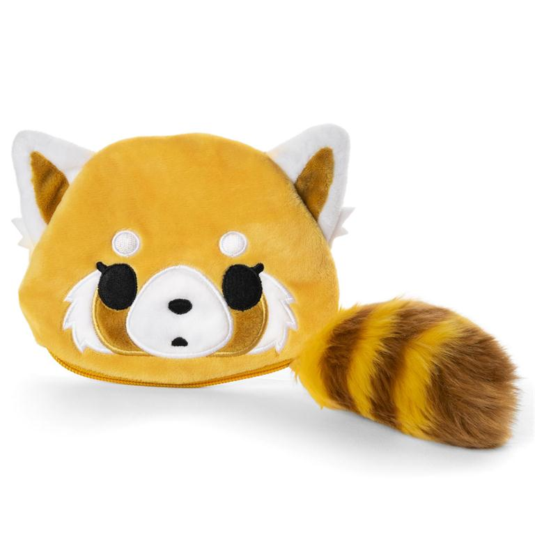 Aggretsuko Plush Face Pouch with Tail