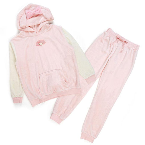 My Melody Velour Hooded Roomwear Set