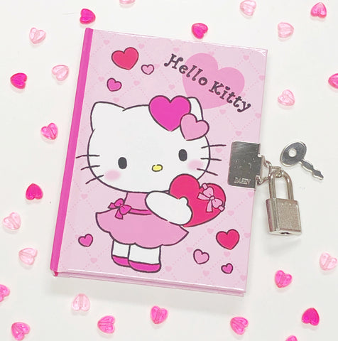 Hello Kitty Valentine Locking Diary