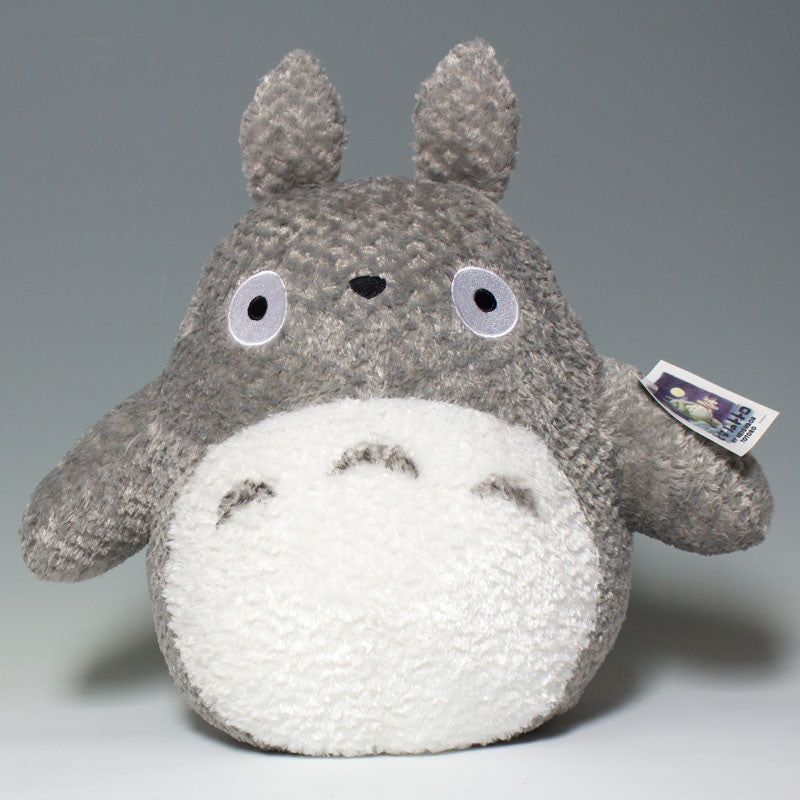 Totoro Large Grey Fluffy Plush – JapanLA b51fcaaf3